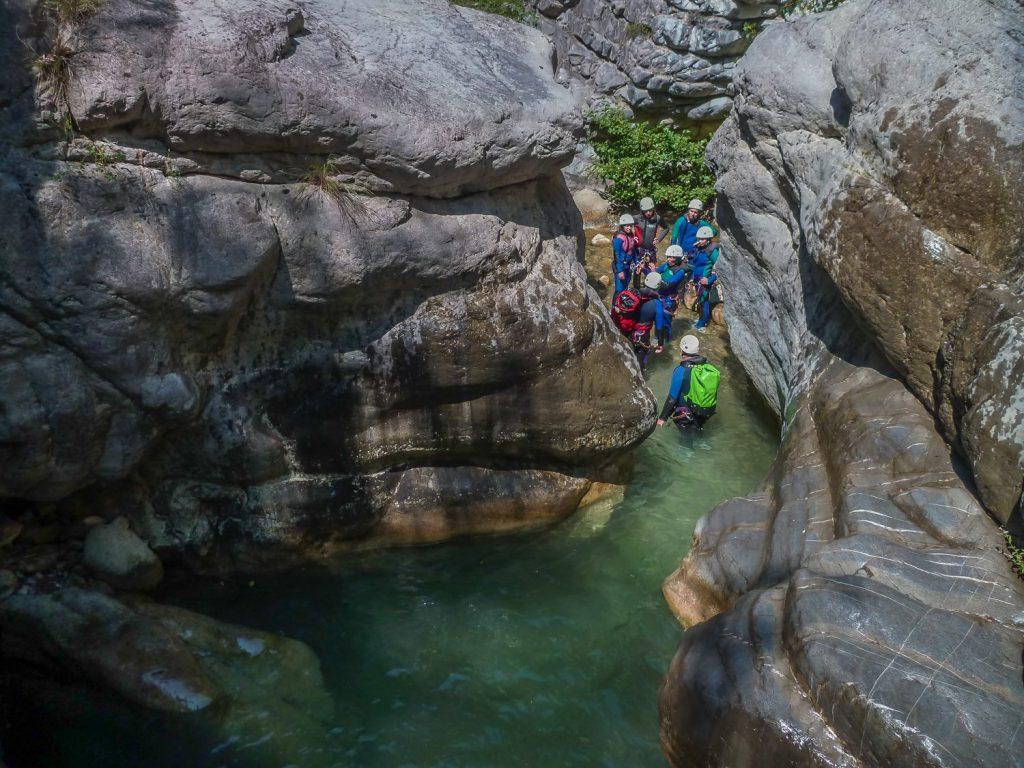 Canyoningguppe Cramassouri Südfrankreich
